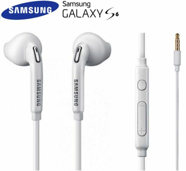 Cuffie Auricolare Originale Samsung EO-EG920BW per Galaxy s6 s5 s4 Bianco Bulk