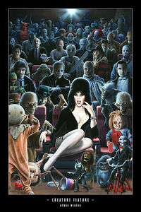 CREATURE-FEATURE-Elvira-11-034-x-17-034-print-by-BYRON-WINTON