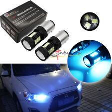 10000K Ice Blue 3535 LED Bulbs For 08+ Mitsubishi Lancer Evo Daytime DRL Lights