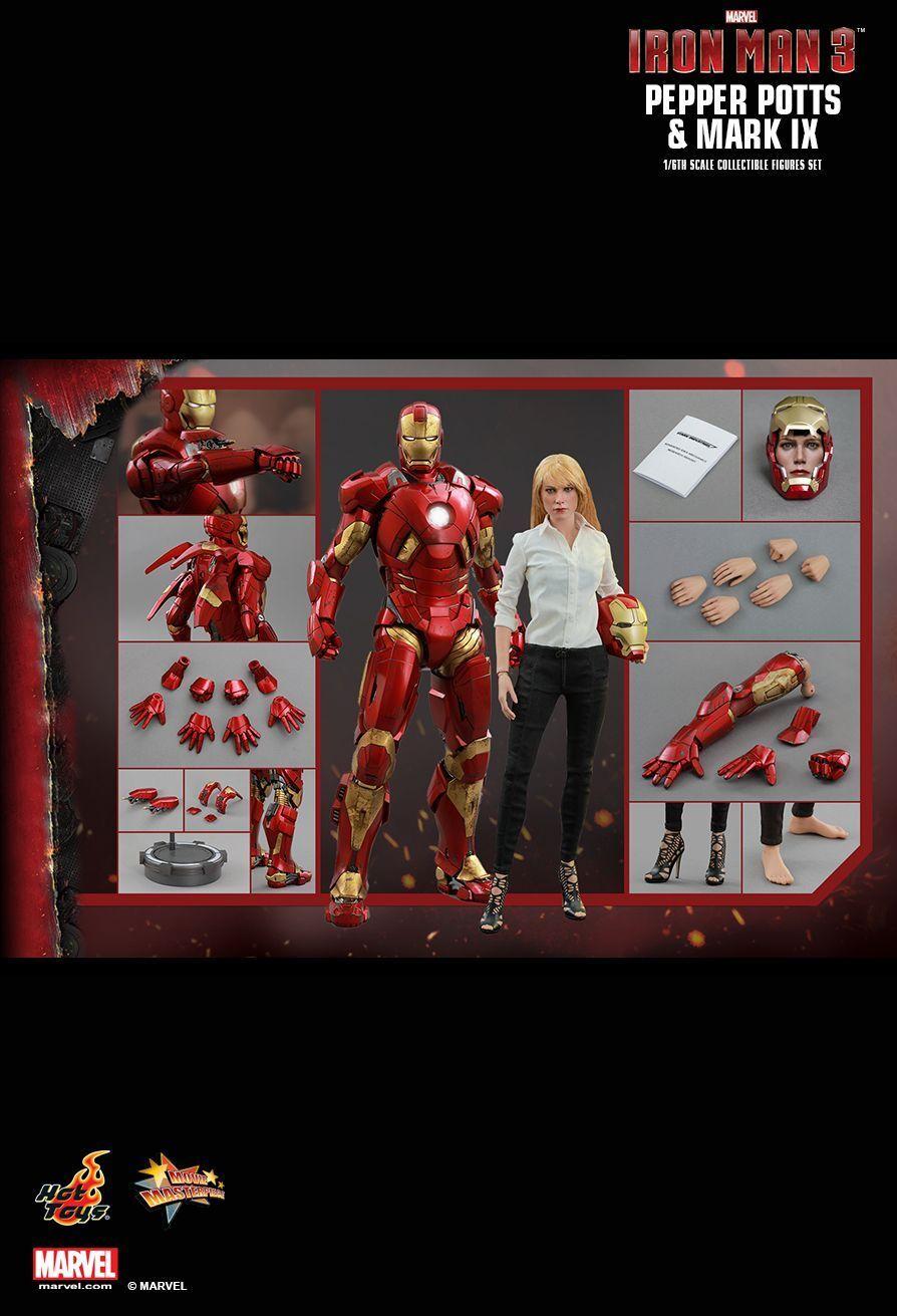 El ultimo 2018 Sideshow Hot Hot Hot Juguetes 1 6 12  MMS311 Iron Man 3 Pepper Potts & Mark IX figura Set  tienda de venta