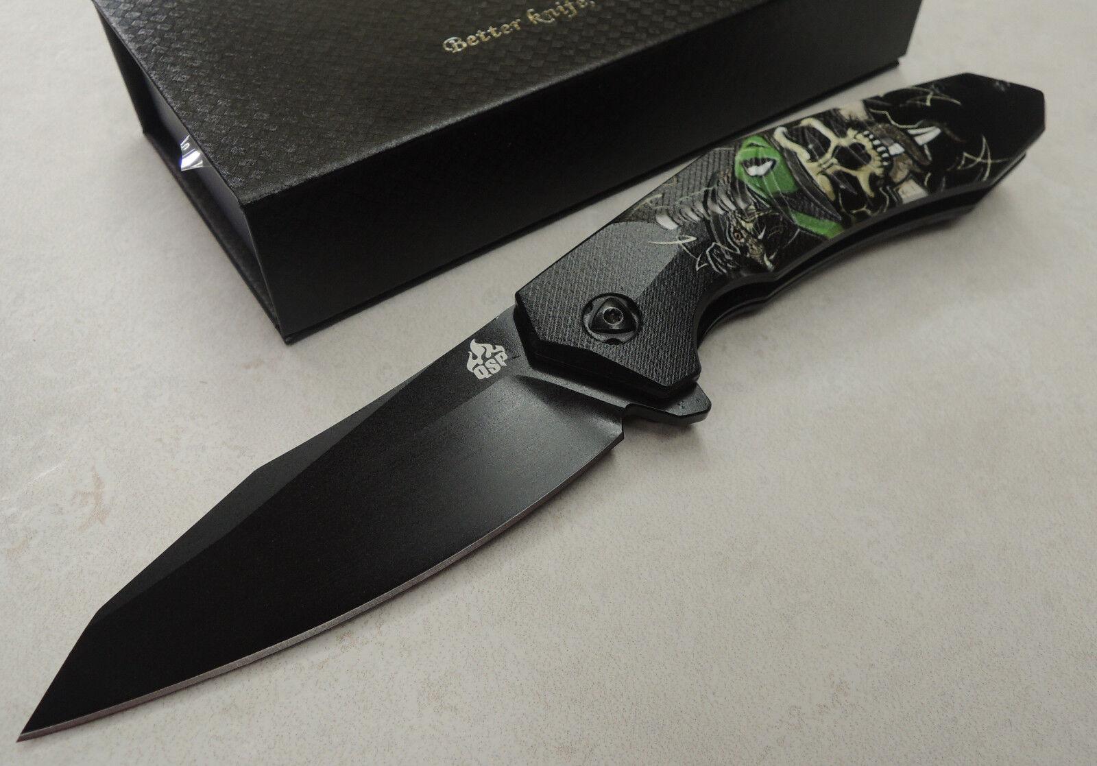 QSP QSP QSP Knives   GHOST   Taschenmesser 440C Stahl Kugellager G10 Griff QS104A 55e374