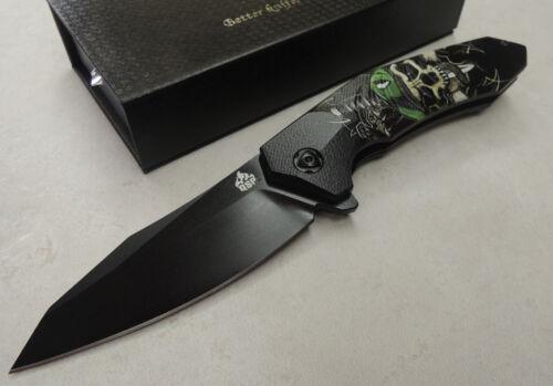 "QSP Knives /"" GHOST /"" Taschenmesser 440C Stahl Kugellager G10 Griff QS104A"