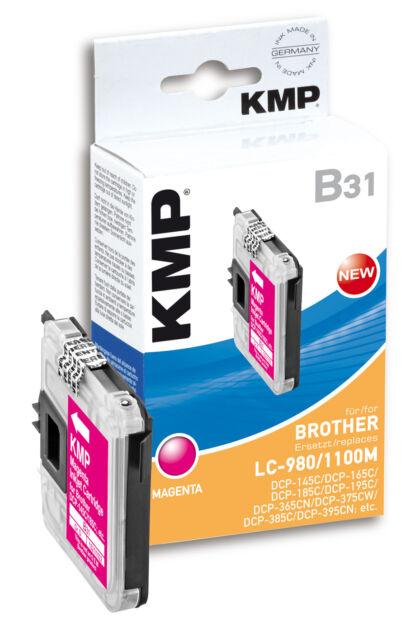 KMP Patrone B31 für Brother LC-980M / LC-1100M DCP-145 C 165C 185C etc. Magenta