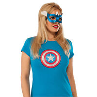 Women's Superhero American Dream Eyemask Costume Accessory