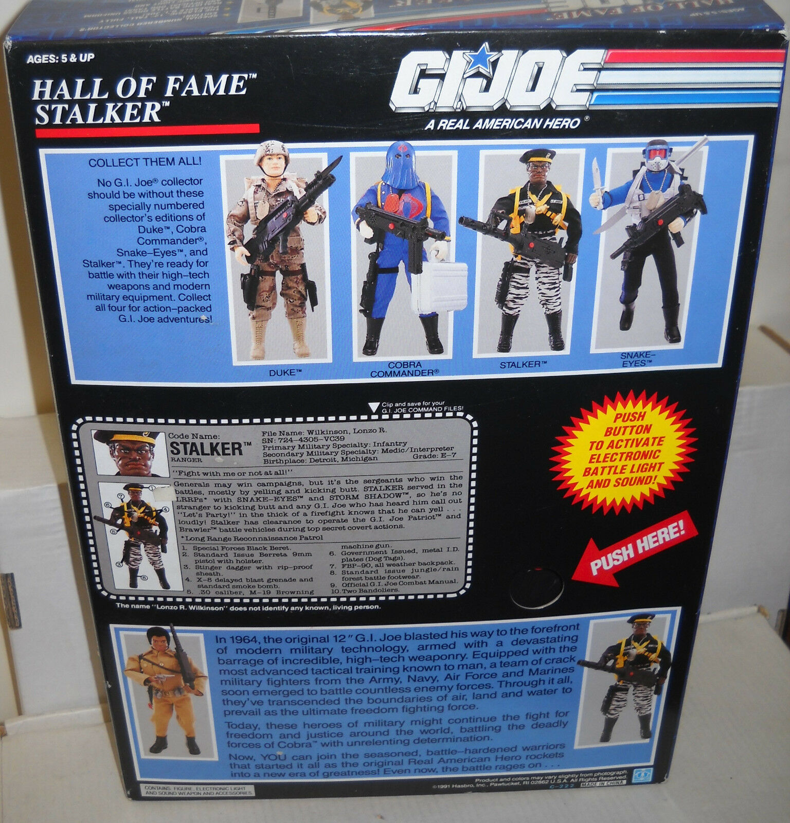 NRFB Hasbro GI Joe Hall of Fame Fame Fame 12  Stalker African American 815f5d