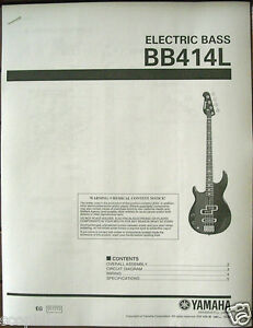 yamaha bb414l left handed bass guitar service manual and parts list rh ebay com Yamaha Bass Guitars Musician Friends yamaha rbx170 bass guitar manual