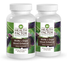 99% L-Dopa Mucuna Pruriens extract, Enhances Mood, Increases Focus (2 Bottles)