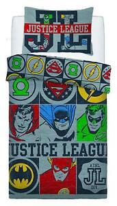 Kinder Einzel Doppel Bettwäsche DC Comics Batman /& Superman Bettbezüge