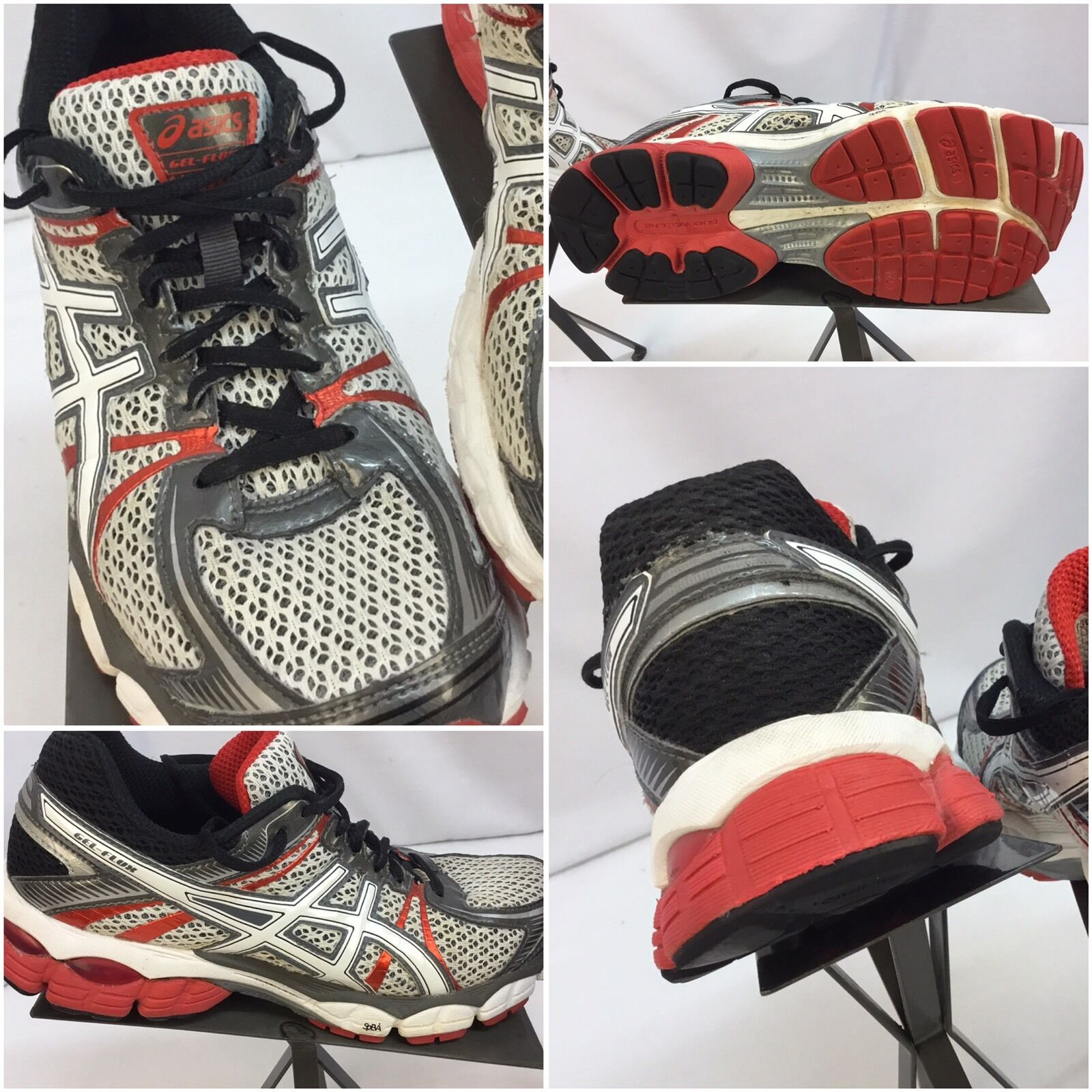 Asics Gel Flux Red Sz 7 Women Gray Red Flux Running Shoes Mint YGI F7 aa1c05