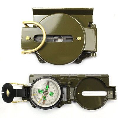 Army Green Lensatic Compass Military Camping Hiking Army Style Survival Marching
