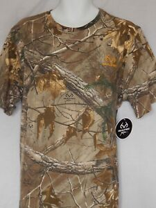 NEW-Realtree-Xtra-Camo-Short-Sleeve-T-Shirt-Camouflage-Outdoor-Hunting-MENS-L-XL