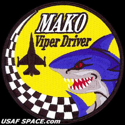 USAF 93RD Fighter Fighter Fighter Escuadrón - Mako Viper Driver -macdill Afb ,Fl- Original 137cc3