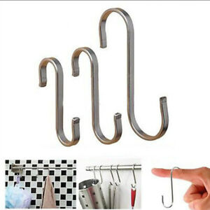 Stainless-Steel-S-Shape-Hooks-Kitchen-Hanger-Rack-Clothes-Holder-Clasp-Hanging
