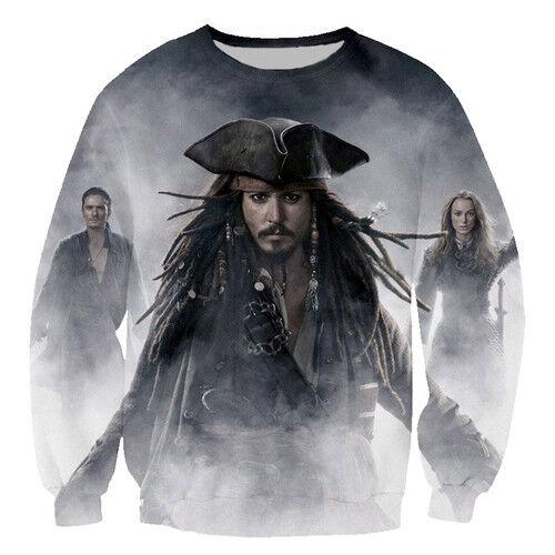 Women//Men Pirates of the Caribbean Jack Sprrow 3D Print Casual Sweatshirt Hoodie