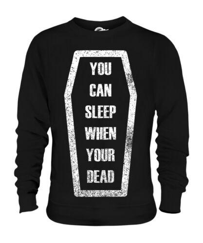 Citazione Maglione Sleep You're When Bara Unisex Regalo Dead wxnYvzHqI