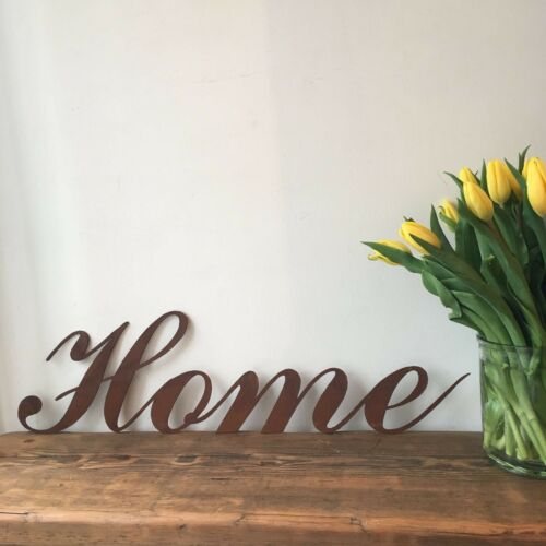 Rusty house letters metal bezel bar bar man cave coffee shabby chic
