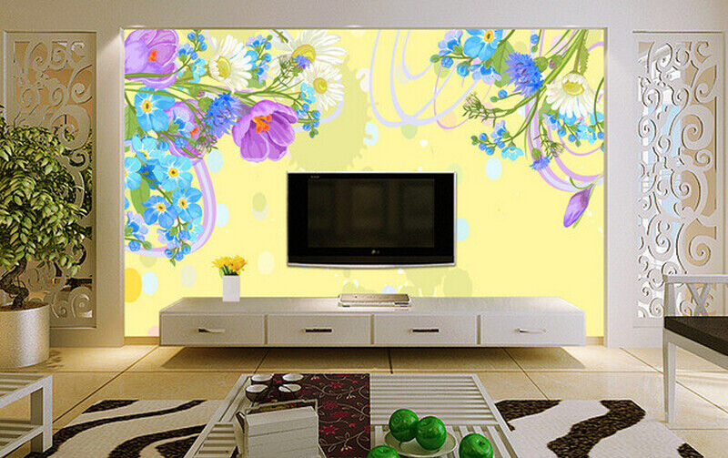 3D Petal Paint 4015 Wallpaper Murals Wall Print Wallpaper Mural AJ WALL UK Carly