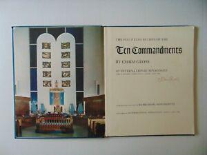 RARE-034-Chaim-Gross-034-The-Sculpture-Reliefs-of-the-Ten-Commandments-Hand-Signed-COA