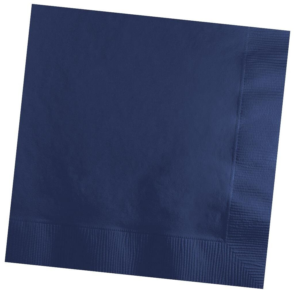 50 Plain Solid Colors Luncheon Dinner Napkins Paper Navy Blue