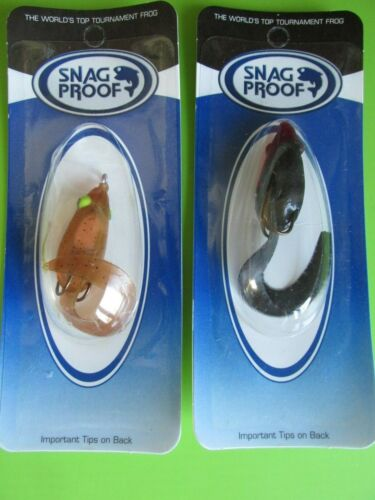 LOT OF 2 SNAG PROOF SUPER CURLY TAIL FROGS SOFT FROG FISHING LURE USA