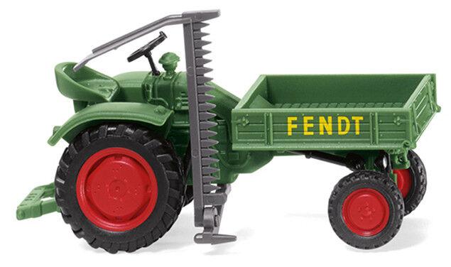 Wiking 089938 Tractor Fendt Proveedor Del Equipo. con Segadora Ho 1:87 Nuevo