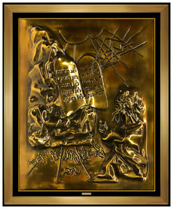 967653678c2 Image is loading Salvador-Dali-Gold-Edition-Bronze-Sculpture-Wall-Relief-