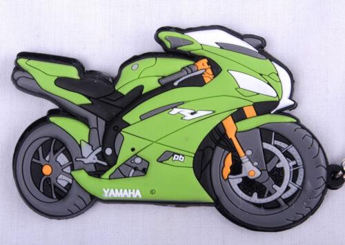 Yamaha YZF R1 Green 4XV Keyring Keyfob Chain Ring Motorbike Engine Exhaust 3D
