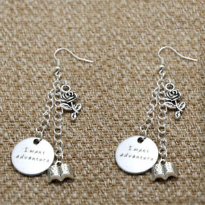 Beauty And The Beast Inspired Earring Belle I Want Adventure Silver