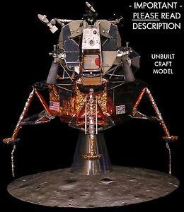 Apollo-11-Lunar-Module-LM-5-1-32-Craft-Model-FOR-Revell-Command-Service-CSM-READ