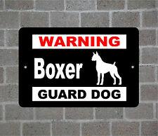 Boxer warning GUARD DOG breed metal aluminum sign
