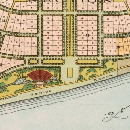 VENICE Florida General Plan City MAP Vintage Reprint Print circa 1926 24x36