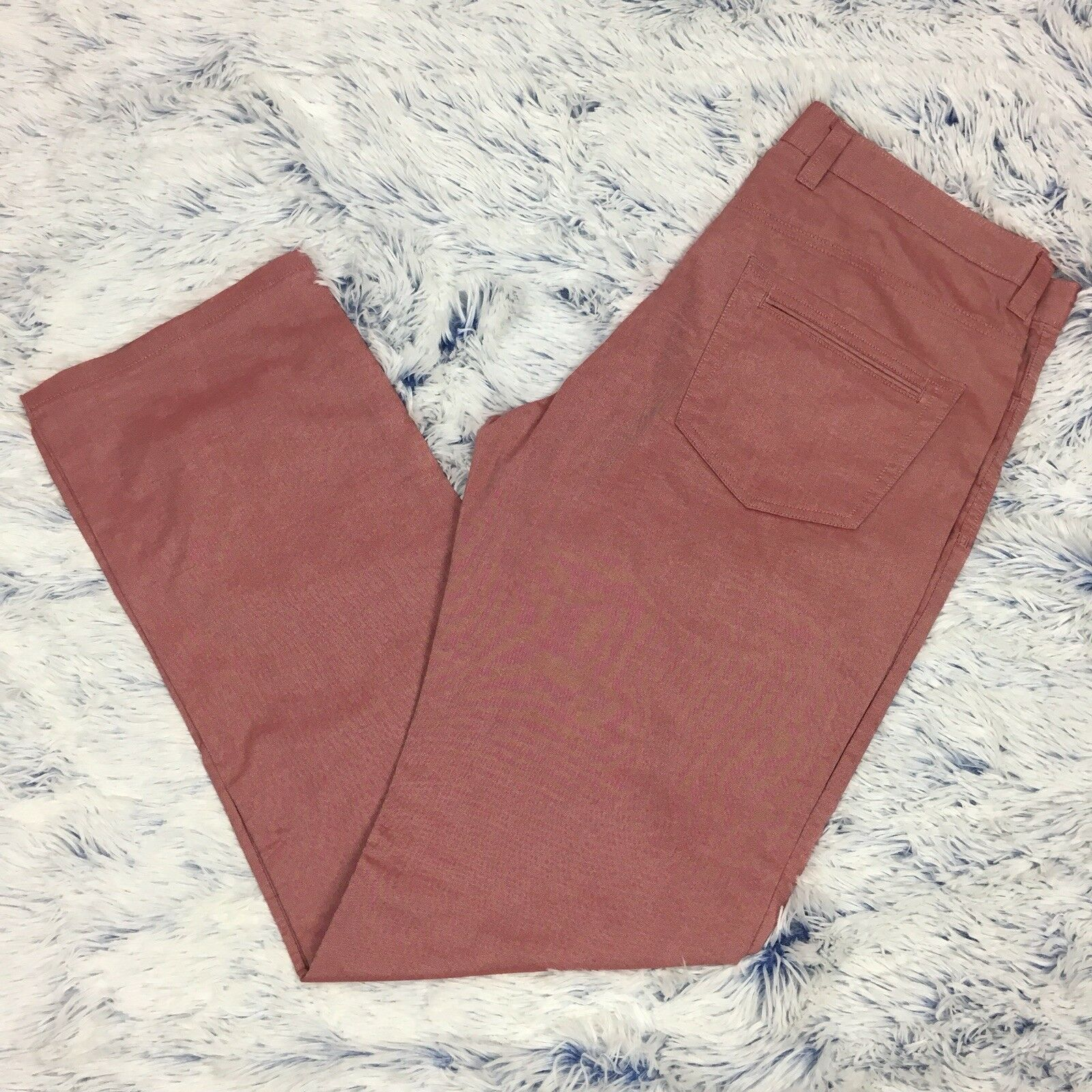 NWOT Mens blueE By Saks Fifth Avenue Pale Red Pants 36x33.5