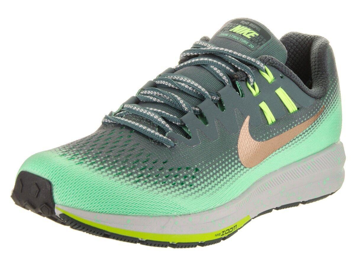 Nike Structure 20 Shield Women`s size 9-11 B, Hasta/MtlcRedBronze 849582-300 NEW
