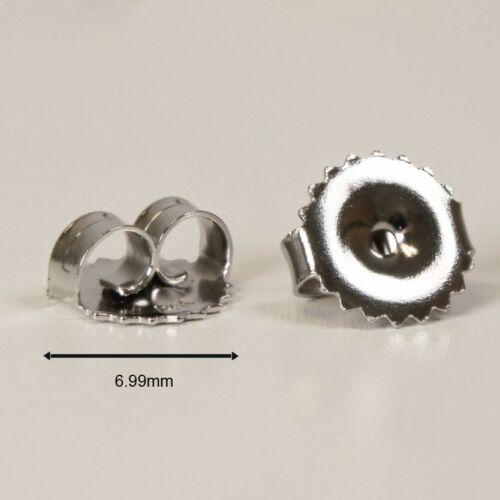 W 14k Replacement Earring Backs Push Jumbo Big Stud Solid Gold Pair Single Y R