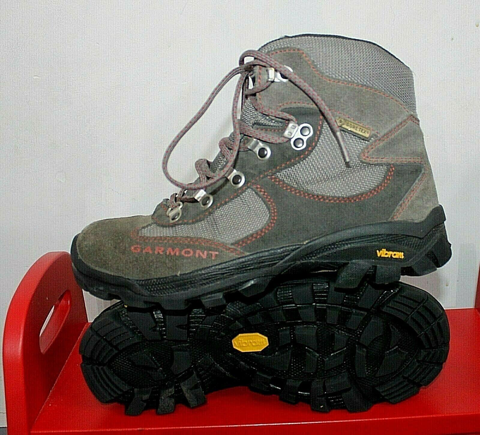 GARMONT GORETEX Montaña Caminar Senderismo botas Para Hombre De Cuero gris US6
