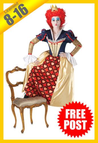 RUBIES Ladies Costume Licensed Disney Queen Of Hearts Alice in Wonderland 889954
