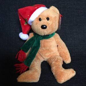 00bb40e27b7 Ty Beanie Baby 2003 Holiday Teddy Bear Christmas Scarf Hat Stuffed ...