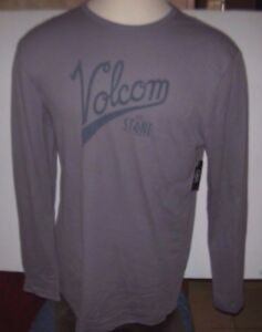 NEW-Volcom-thermal-long-sleeve-shirt-gray-men-sz-Medium-or-Large-or-XL