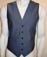 """MENS WAISTCOAT SIZE SMALL 36-38"""" CHEST STEEL GREY NEW M&S PURE NEW WOOL TAILORED"""