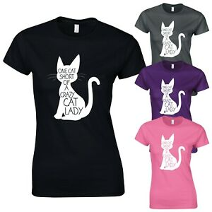 Crazy-Cat-Lady-Cute-Funny-Kitty-Slogan-Graphic-New-Womens-T-shirt