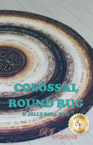 NEWEST PATTERN ~ COLOSSAL ROUND RUG ~ JELLY ROLL RUG KIT ~ PATTERN /& BATTING