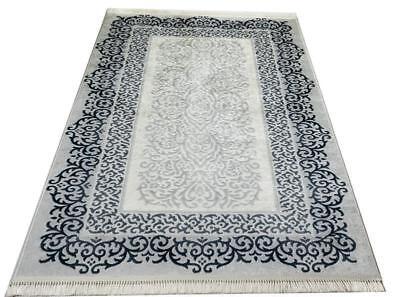 Teppich waschbar /& rutschfes Waschmaschinengeeignet bei 30°C Oriental blau