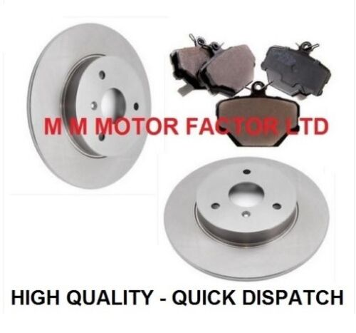 FRONT 2 BRAKE DISCS AND BRAKE PADS SET *NEW* SMART CAR 2004-2012