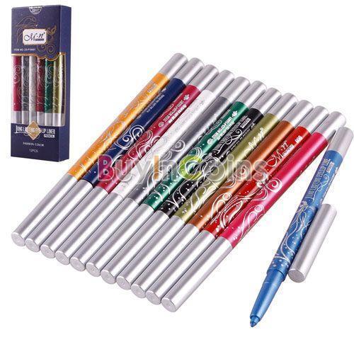 12 Colors Mini Automatic Plasitc Eyeliner/ Lip liner Pen Make Up Tool