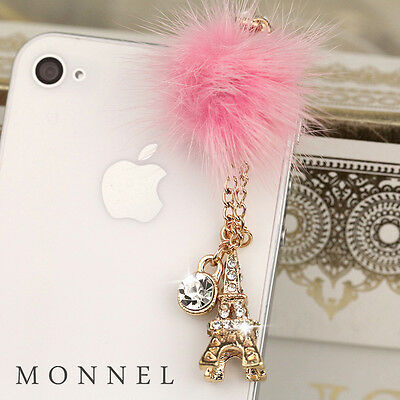 ip658 Paris Tower Dust Proof Phone Plug Cover Charm For iPhone 4 4S Cell Phone