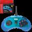 thumbnail 1 - New Retro-Bit Official Sega Genesis Controller 6-Button Arcade Pad - CLEAR BLUE