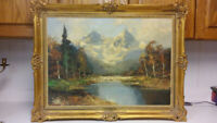 Listed Italian artist antique oil painting