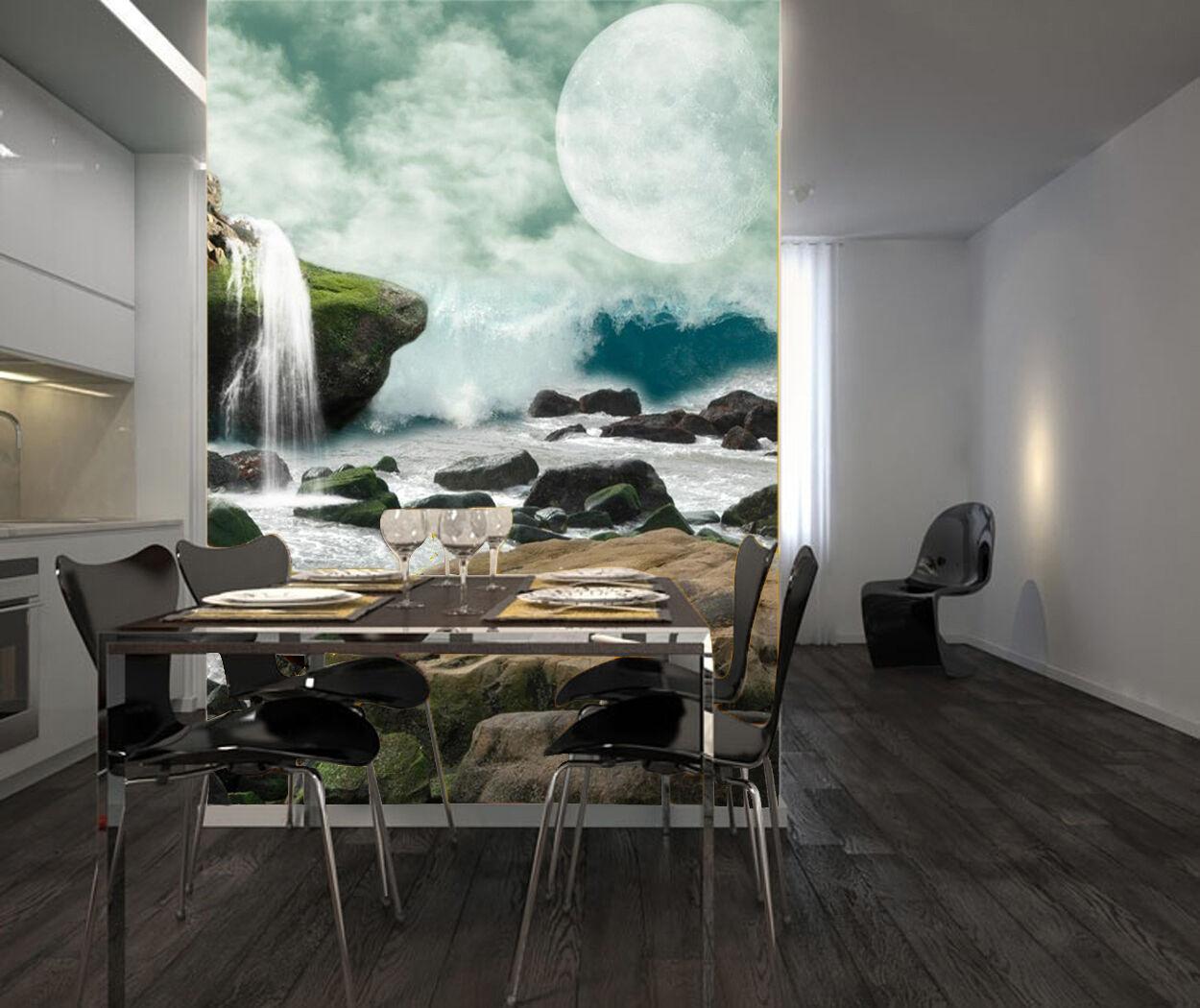 3D fiume 216 Parete Murale Foto Carta da parati immagine sfondo muro stampa