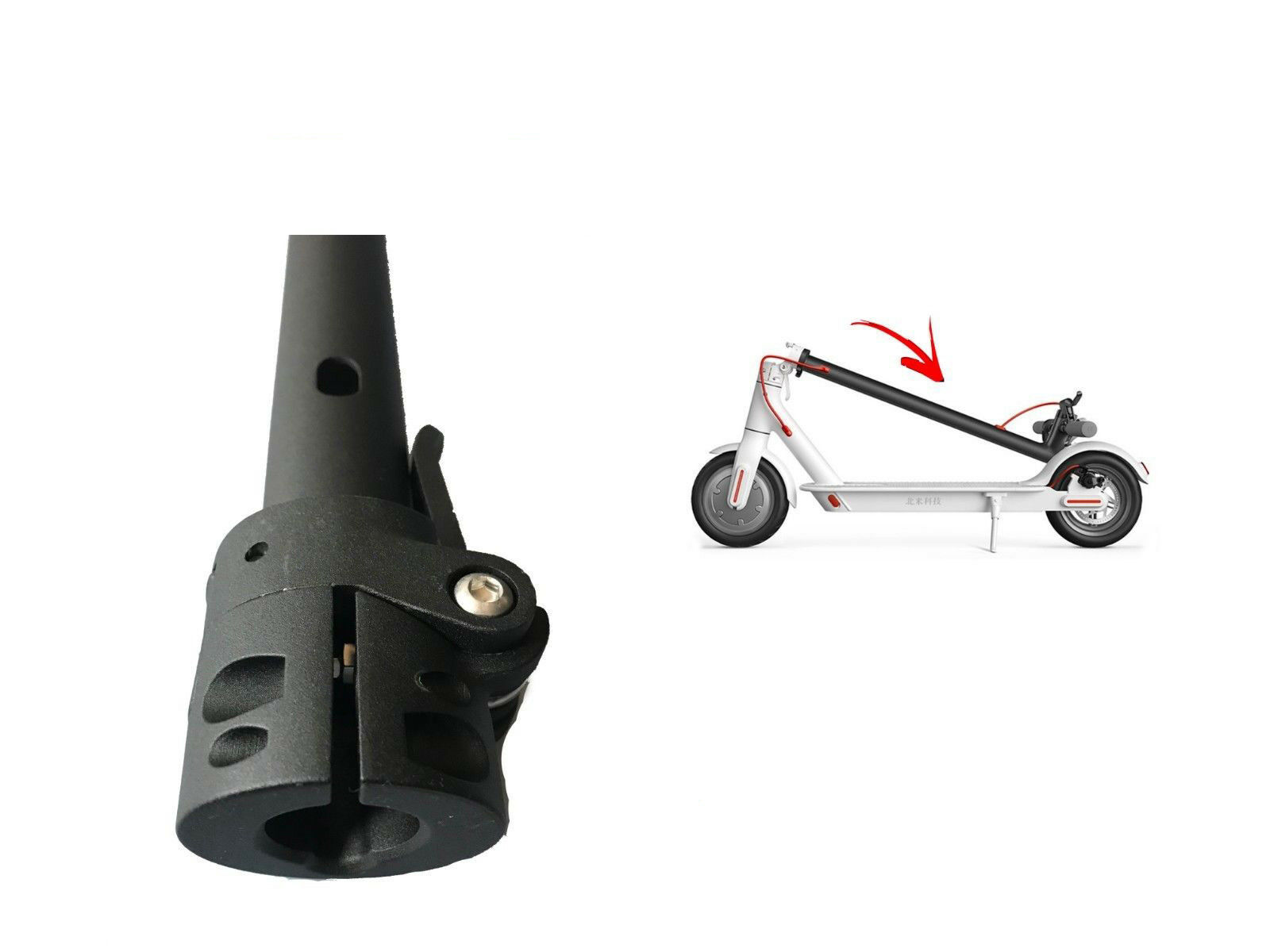 Folding Pole for the Xiaomi M365 Electric Scooter Replacement Part 62CM Length