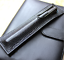 fountain pen storage bag Genuine cow Leather Customize handmade case black z183